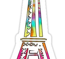 rainbow eiffel tower  Sticker
