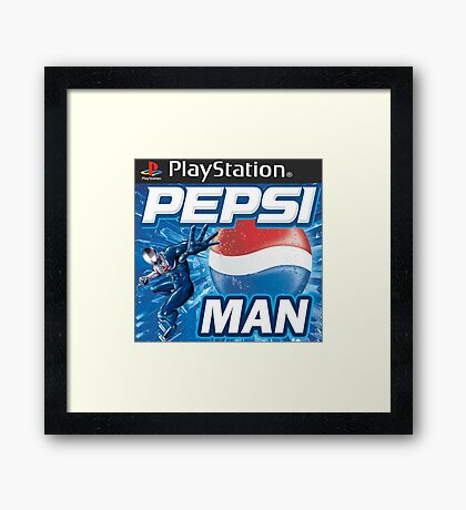 Pepsi Man Video Game Framed Print