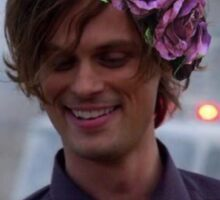Matthew Gray Gubler with Flowers Sticker