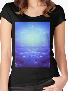 All but the Brightest Star (Sirius Star Geometric) Women's Fitted Scoop T-Shirt