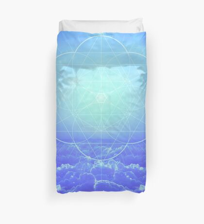 All but the Brightest Star (Sirius Star Geometric) Duvet Cover