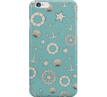 Vintage Nautical Pattern iPhone Case/Skin