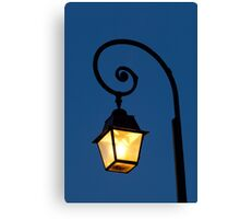 Streetlamp in Fontainebleau Canvas Print