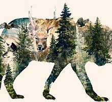 Wolf Pride Surrealism Nature Art by barrettbiggers