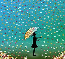 Raining Flowers by pawpapaya