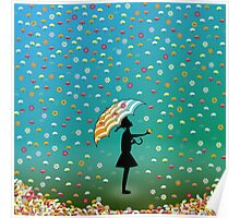 Raining Flowers Poster