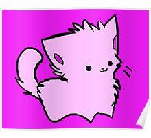 Pink Kawaii Kitty Poster