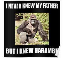 Harambe Gorilla father Poster