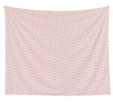 Pink Hearts on Pink Wall Tapestry