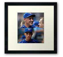 Aaron smile/serious Framed Print