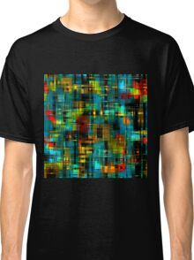 Art splash brush strokes paint abstract seamless pattern print background Classic T-Shirt