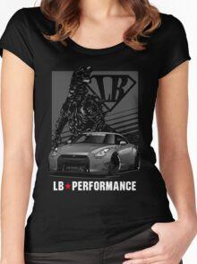 GTR R35 Liberty Walk Women's Fitted Scoop T-Shirt