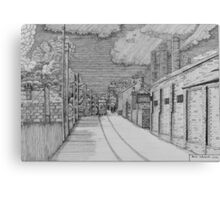 255 - GUTTER HILL SEEN FROM JOHNSTOWN - DAVE EDWARDS - INK - 2014 Canvas Print