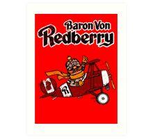 Baron Von Redberry red background Art Print
