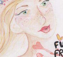 funky fruity fresh Sticker