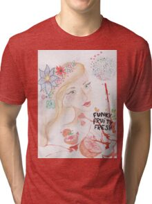 funky fruity fresh Tri-blend T-Shirt