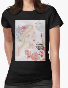 funky fruity fresh Womens Fitted T-Shirt