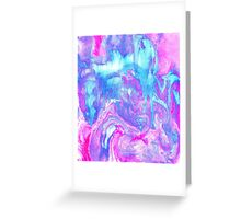 Melting Marble in Pink & Turquoise Greeting Card