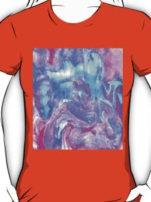 Melting Marble in Pink & Turquoise T-Shirt