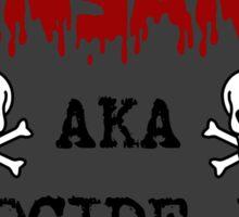 Monsanto Genocide, Inc. Sticker