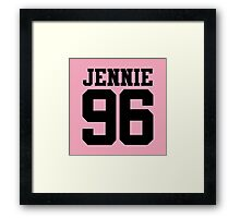 BLACKPINK Jennie 96 (Black) Framed Print