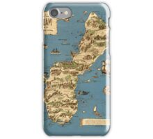Vintage 1949 guam map - christmas gift for her iPhone Case/Skin