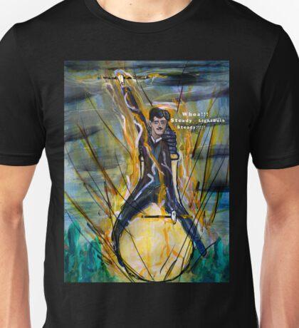 Nikola Tesla Riding The Light Bulb Unisex T-Shirt
