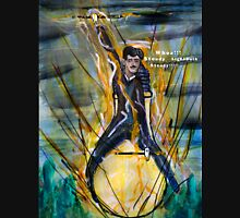 Nikola Tesla Riding The Light Bulb Unisex T-Shirt