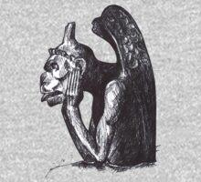 Gargoyle of Notre Dame 1 by littlebluerenn