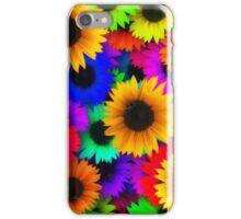 Bright Neon Sunflowers iPhone Case/Skin
