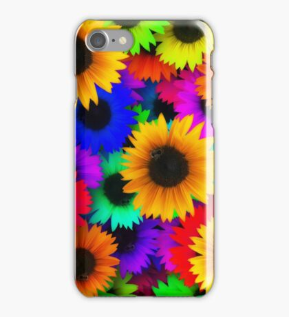 Bright Neon Sunflowers iPhone Case/Skin