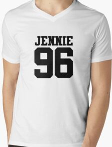 BLACKPINK Jennie 96 (Black) Mens V-Neck T-Shirt