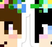 Dan And Phil 8-Bit Flower Children Sticker