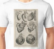 Anatomical heart drawings Unisex T-Shirt