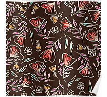 Careless floral pattern Poster