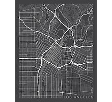 Los Angeles Map, USA - Gray  Photographic Print
