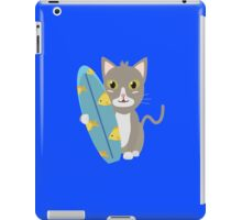 Cat with surfboard   iPad Case/Skin