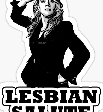 Lesbian Salute - Kate McKinnon Sticker