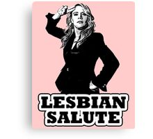 Lesbian Salute - Kate McKinnon Canvas Print