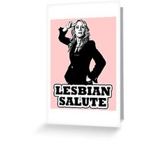 Lesbian Salute - Kate McKinnon Greeting Card