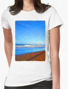 Beautiful Blue Sea Womens Fitted T-Shirt