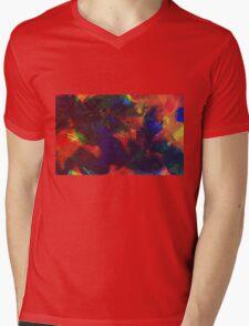 Colorful Abstract Art Mens V-Neck T-Shirt