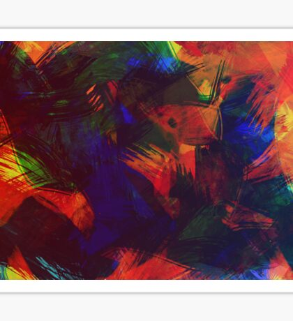 Colorful Abstract Art Sticker