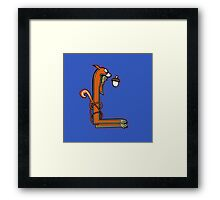 Medieval Squirrel Letter L Framed Print