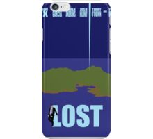 LOST minimialist poster iPhone Case/Skin