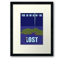 LOST minimialist poster Framed Print