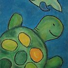 Sea Turtle Pastel Artwork by justineb