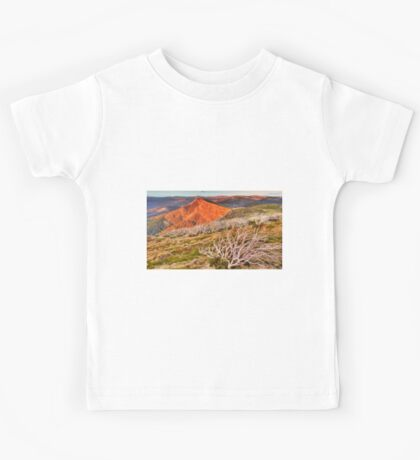 Last light over the high country. Kids Tee