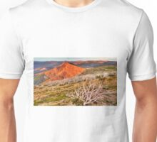Last light over the high country. Unisex T-Shirt