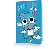 Aye Sir! Greeting Card